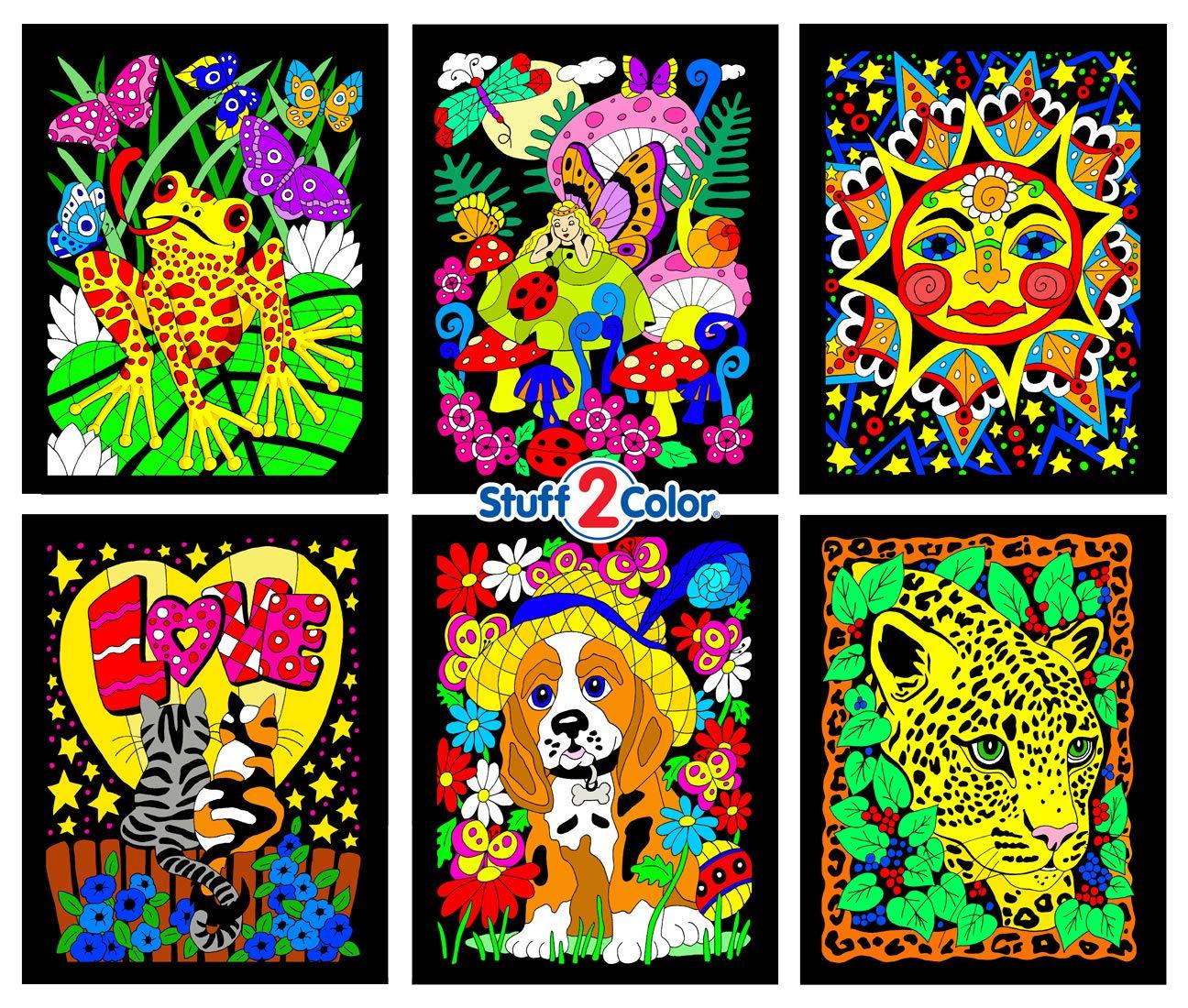 Amazon.com: Sunshine, Kittens, Leopard, Puppy, Fairy, Frog - 6 Fuzzy ...
