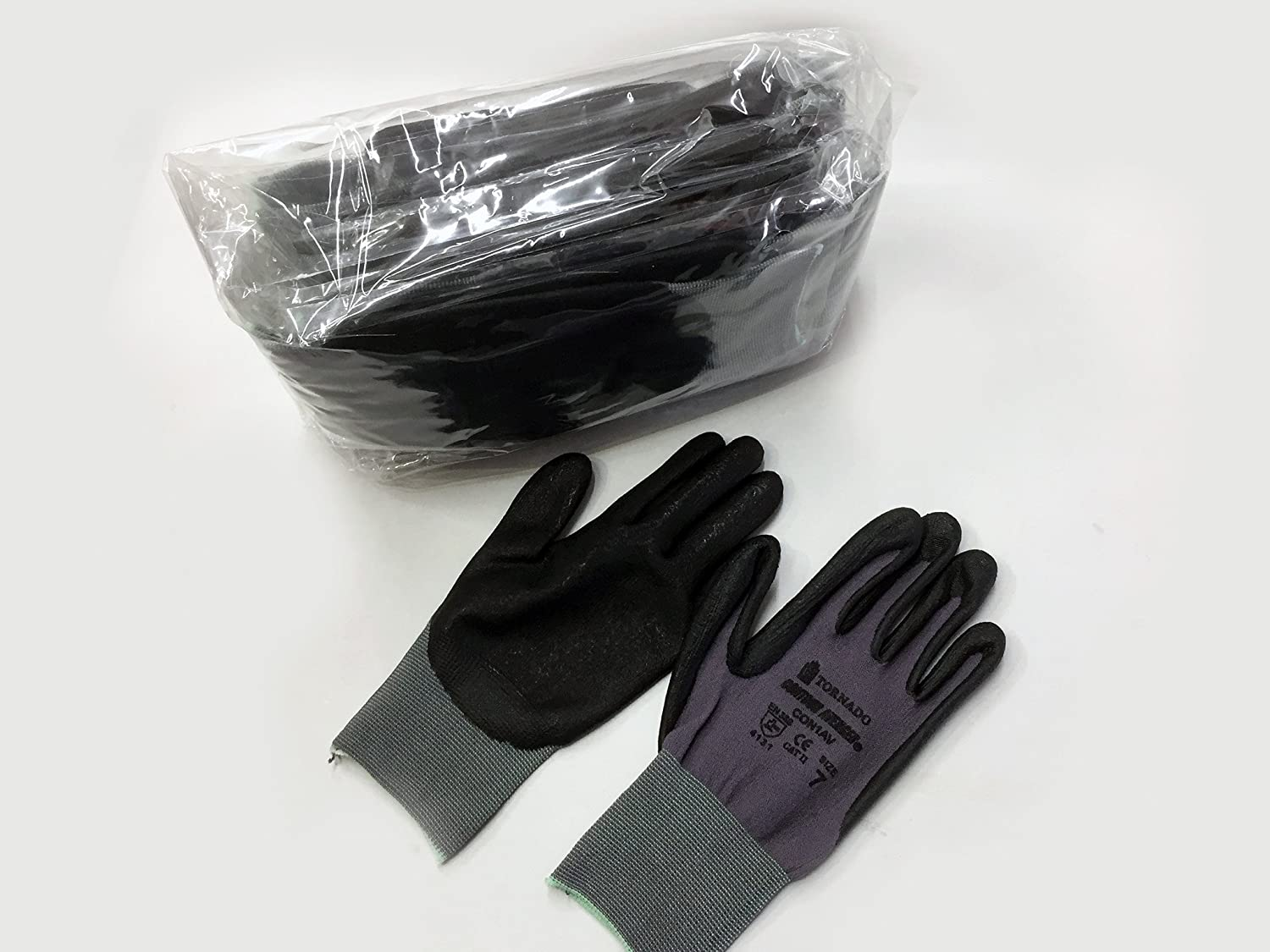 10 x PAIRS TORNADO CONTOUR AVENGER INDUSTRIAL GLOVES SIZES 6, 7 & 9 LIGHTWEIGHT (Medium)