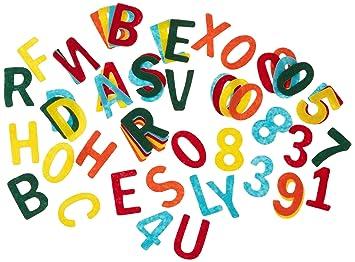 Rayher Filz Stanzteile 4cm Großbuchstaben Und Zahlenmix Ca 230