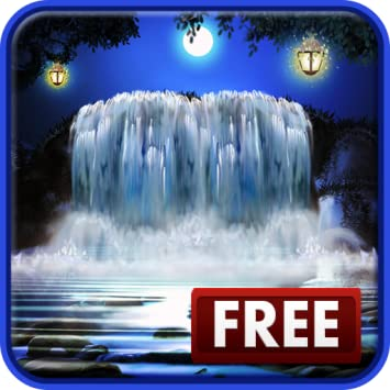 Amazoncom 3d Night Waterfall Live Wallpaper Appstore For Android
