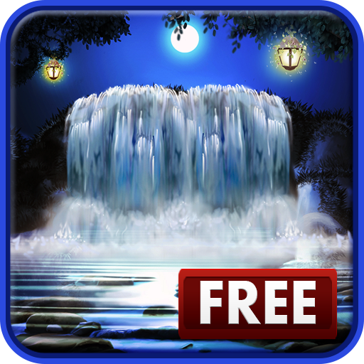 Amazon Com 3d Night Waterfall Live Wallpaper Appstore For