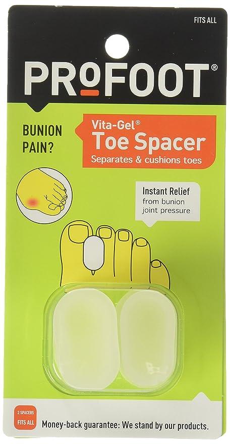 Profoot PF1558 Vita-Gel Separadores de Dedos (set de 2): Amazon.com ...