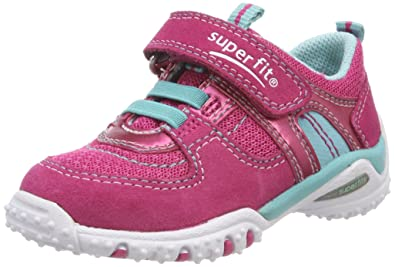Superfit SPORT4 Mini, Baskets Bébé Fille, Türkis (Türkis Kombi), 21 EU
