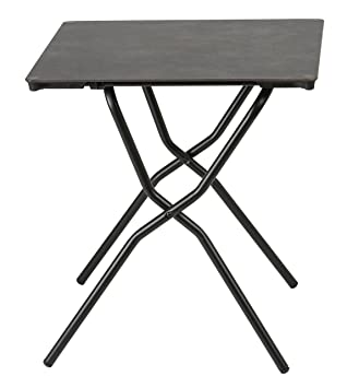 Lafuma Table de jardin carrée, 68 x 64 cm, 2 places, Pliable ...