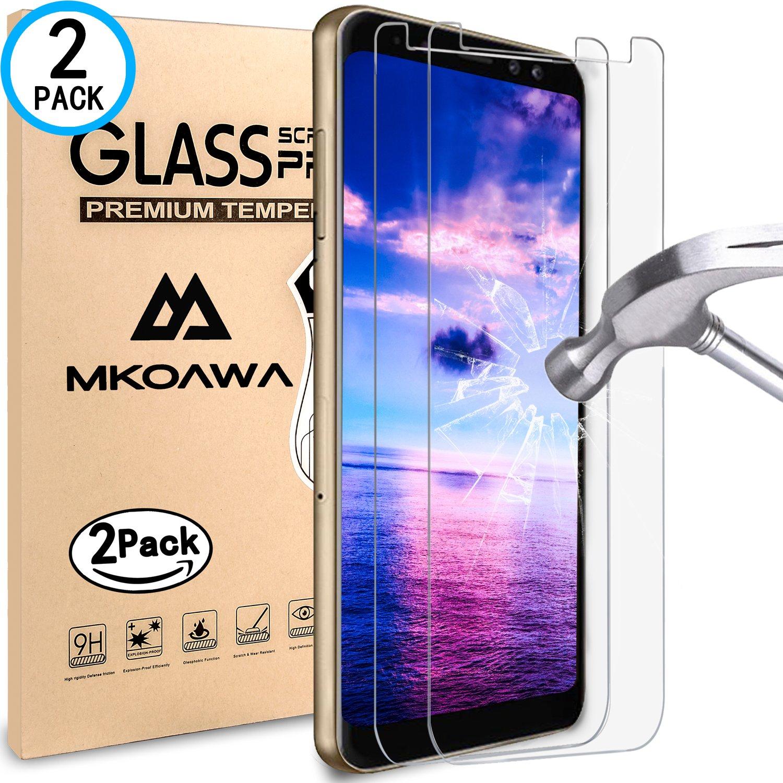 Samsung Galaxy A3 tanque 2018 Cristal protector de pantalla, mkoawa [2 unidades] templado vidrio Protector de pantalla 0,25 mm, protector de pantalla de ...