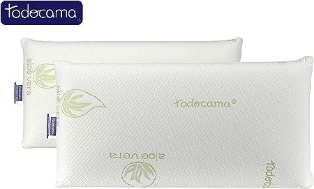 Todocama - Almohada viscoelástica, núcleo Compacto. Doble Funda ...