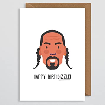 Snoop Dogg Birthday Card Celebrity Birthday Card Funny Rap