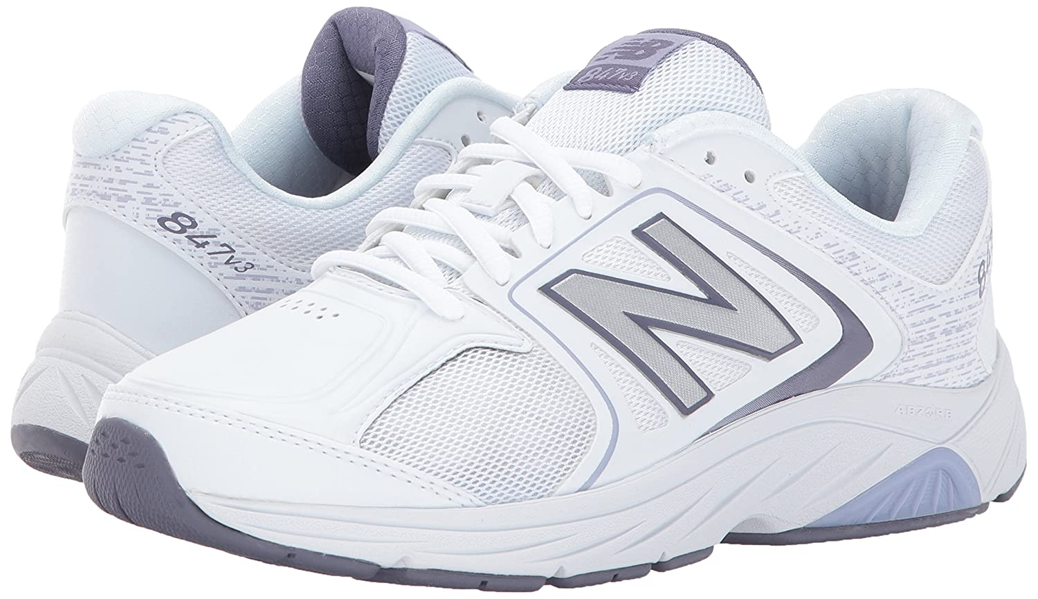 New Balance Women's 847v3 Walking Shoe B01N0GJSUY 8 D US|White/Grey