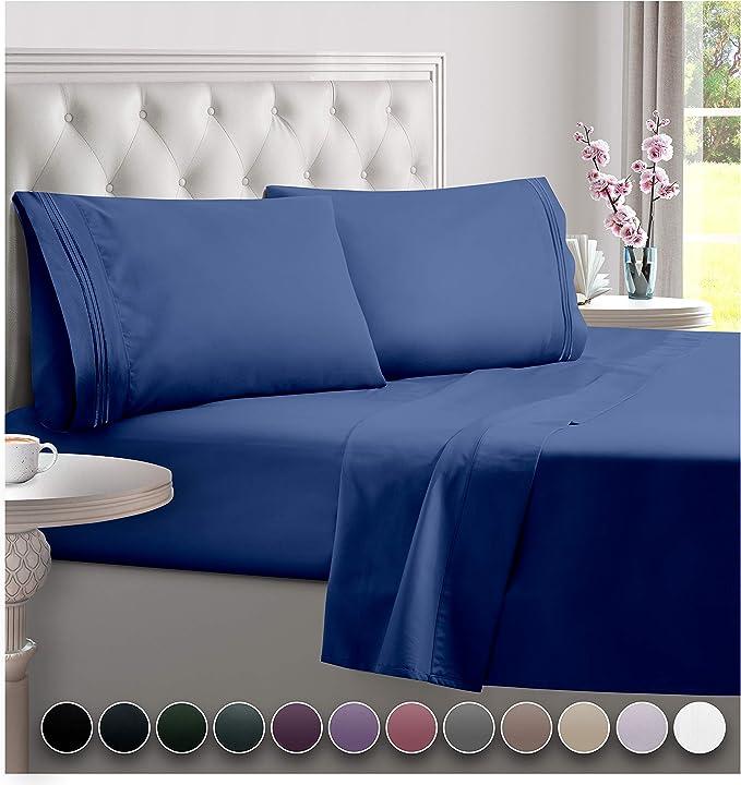Twin XL Set Sheets Everspread Bed Sheet Set Deep Pocket Ultra Soft 3 Piece