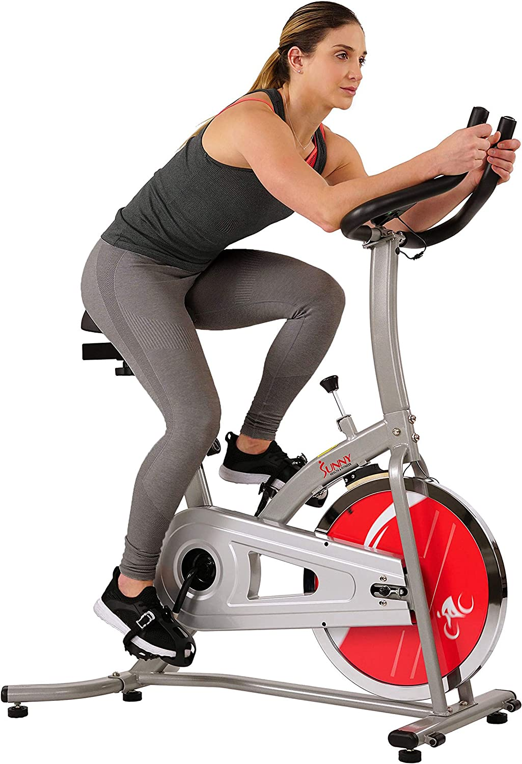 best exercise bike to lose weight: Sunny Health & Fitness 22LB Chromed Flywheel Bike