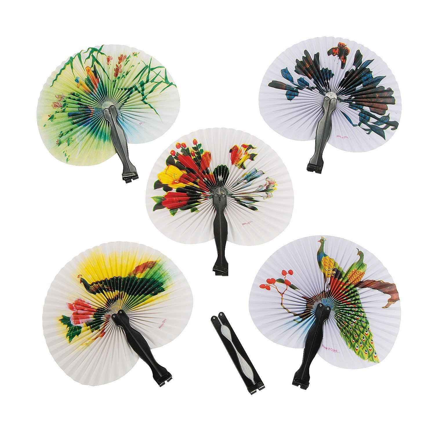 Amazon.com: Fun Express Mini Oriental Folding Fans - 12 Pieces: Toys ...