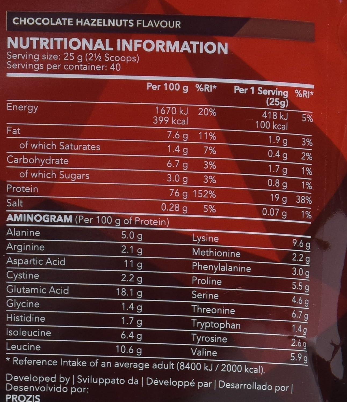 Prozis 100% Real Whey Protein 1000 g: Suplemento puro en polvo. Disfruta del batido con sabor a Crema catalana más delicioso del mercado.