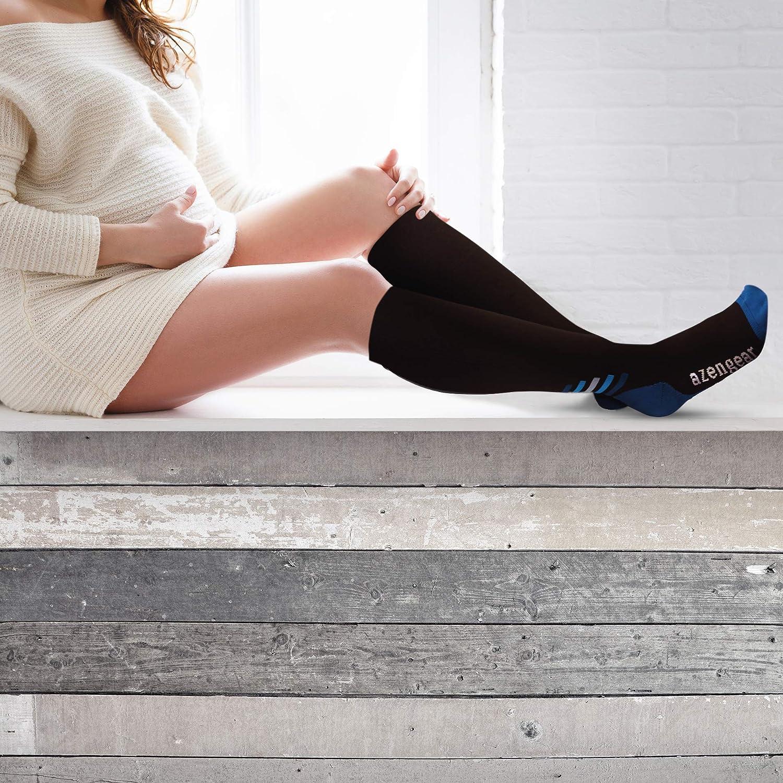b6fd57f229 Compression Socks for Men Women - Best Flight Socks - Cushioned Compression  Stockings for Athletics Running Skiing Travel ...