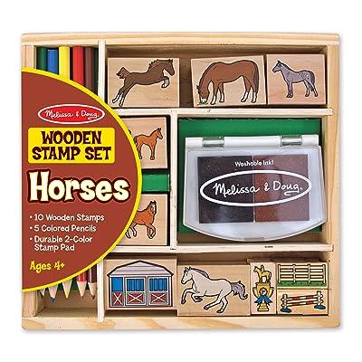 Melissa & Doug Horse Stable Stamp Set: Melissa & Doug: Toys & Games