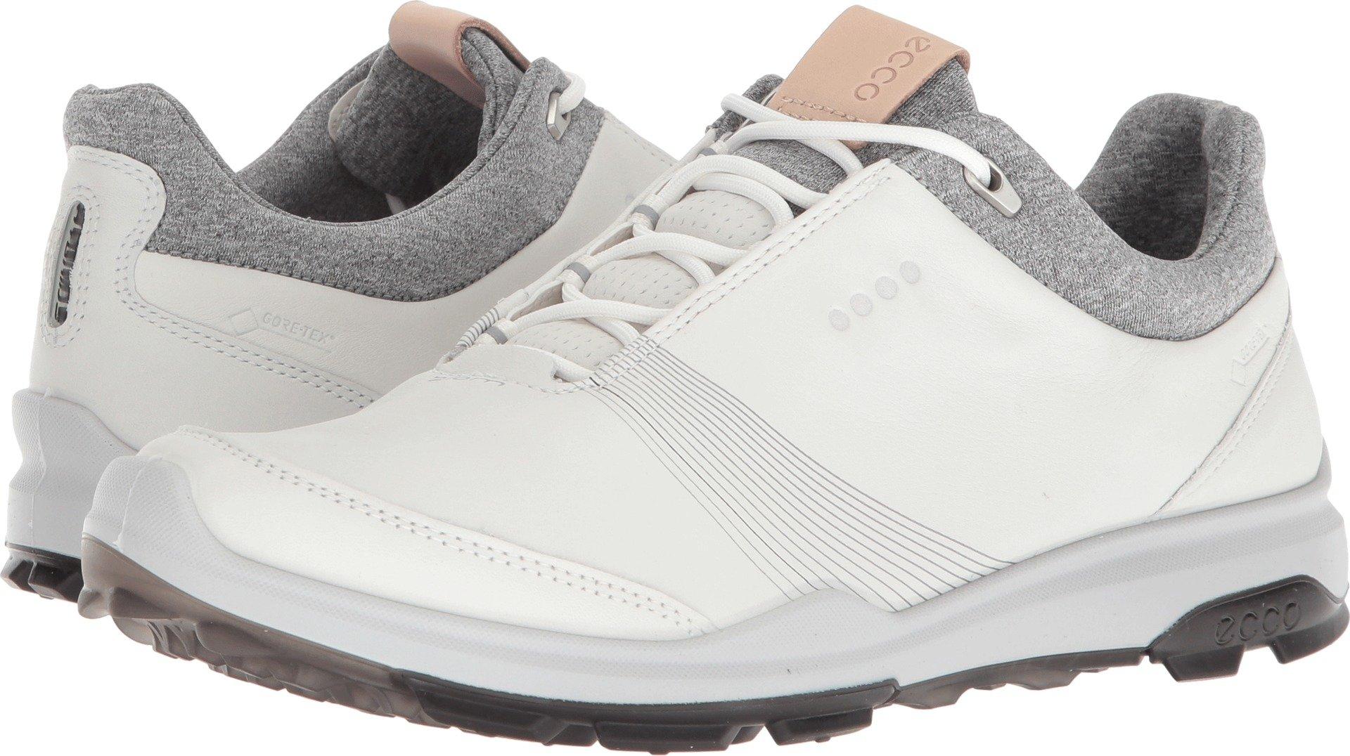 ECCO Women's Biom Hybrid 3 Gore-Tex Golf Shoe, White/Black Yak Leather, 7 M US by ECCO