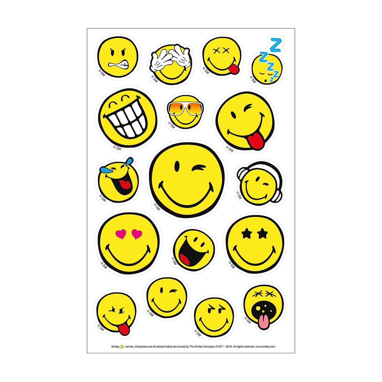 3 St/ück 3 Bogen Herlitz 50001989 Sticker Smiley World Girly FSC selbstklebend