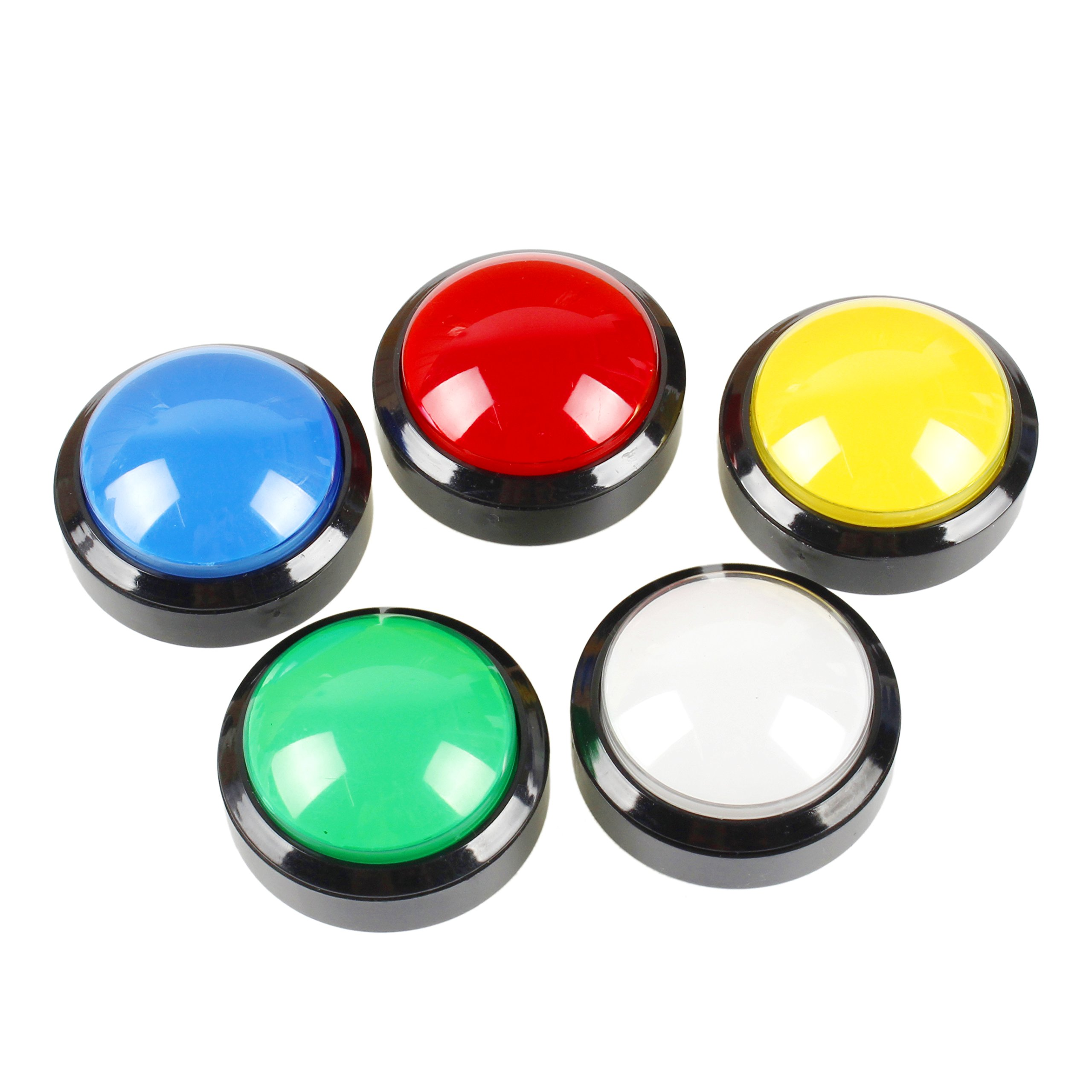 EG STARTS 5X New 60mm Dome Shaped LED Illuminated Push Buttons for Arcade Coin Machine Operated Games