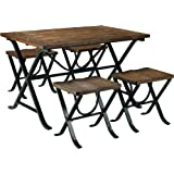 Amazon Com Sedona Breakfast Nook Set W Side Bench 4pc