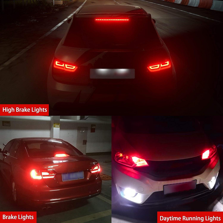 CIIHON Upgraded 3157 LED Light Bulbs,12V 24W 2800LM 6000K White LED Bulbs,Super Bright 3030 SMD 3057 3056 3156 4057 4157 LED Lights Car Brake Backup Reverse Turn Signal Tail DRL Lights Replacement
