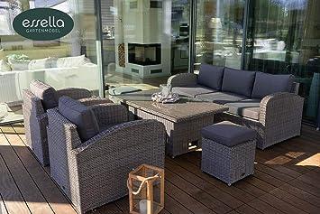 Amazon.de: essella Polyrattan Sitzgruppe Gartenmöbel Lounge ...