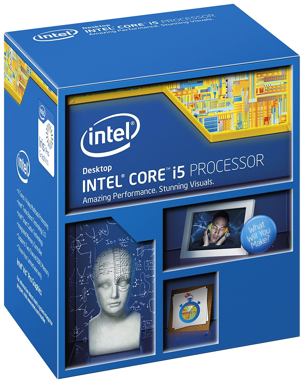 Intel Core i5-5675C - Procesador (LGA FCLGA1150, Quad-Core de 3.1 GHz, Intel Iris Pro Graphics 6200, PCI Express 3.0)