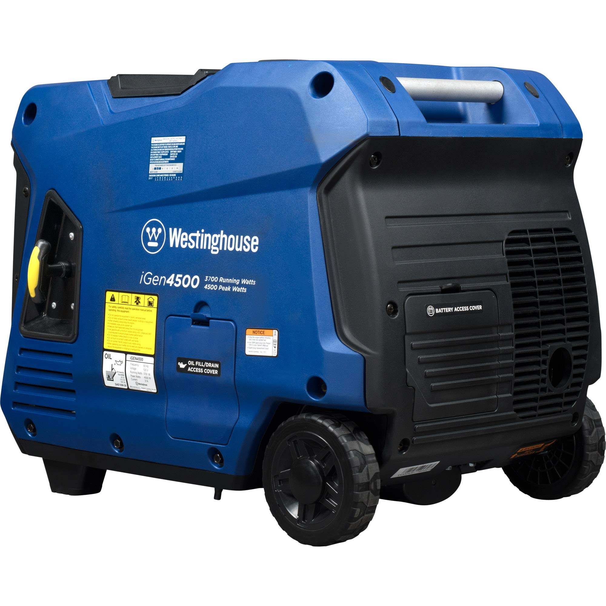 Westinghouse iGen4500 Super Quiet Portable Inverter Generator - 3700 Rated Watts and 4500 Peak Watts - Gas Powered - CARB Compliant by Westinghouse (Image #1)