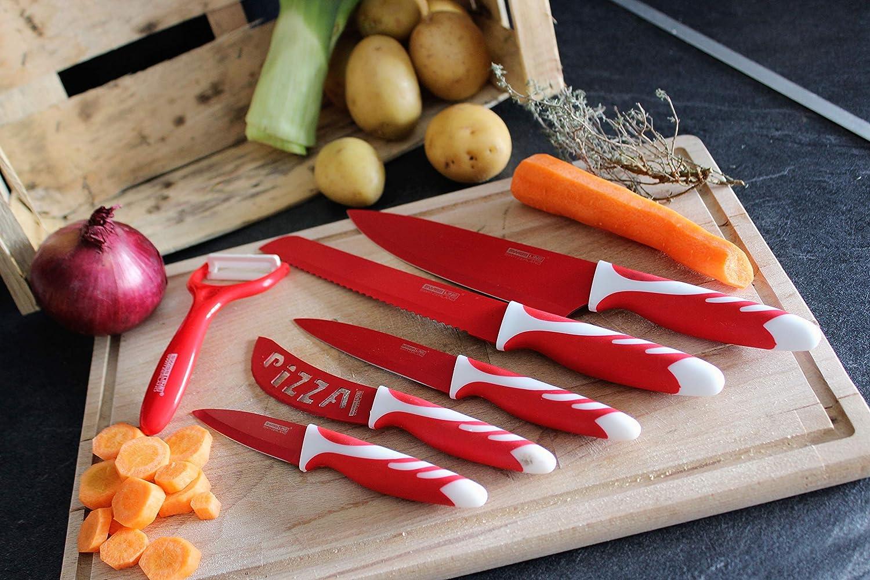Swissline 5 piezas juego de cuchillos incluye pelador (la ...
