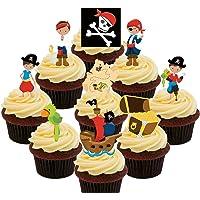 Los piratas de Nunca Jamás, multicolor Kids – decoración para tarta para comestible stand