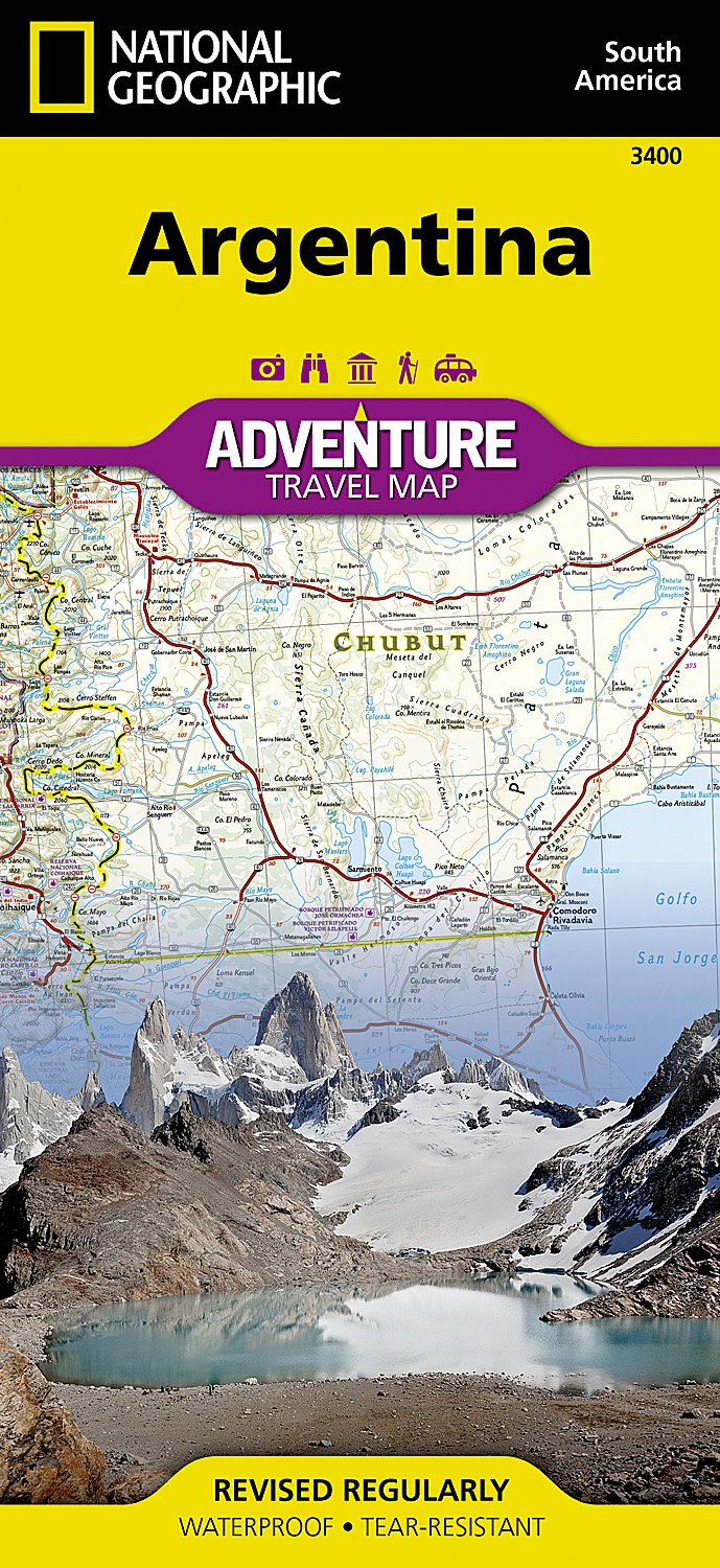 Argentina National Geographic Adventure Map National Geographic - Argentina map for sale