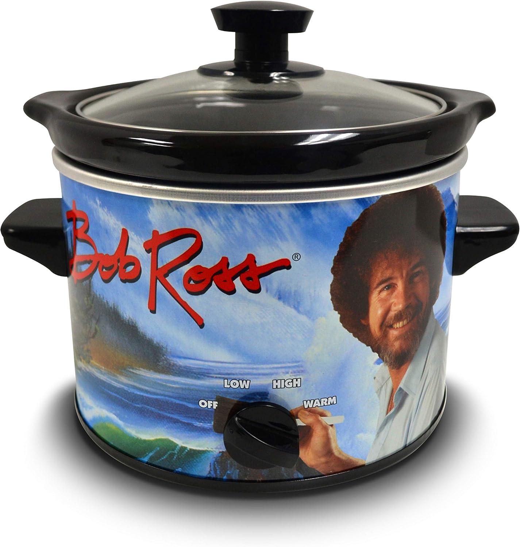 Bob Ross 2 Quart Slow Cooker- Happy Little Tree Appliance