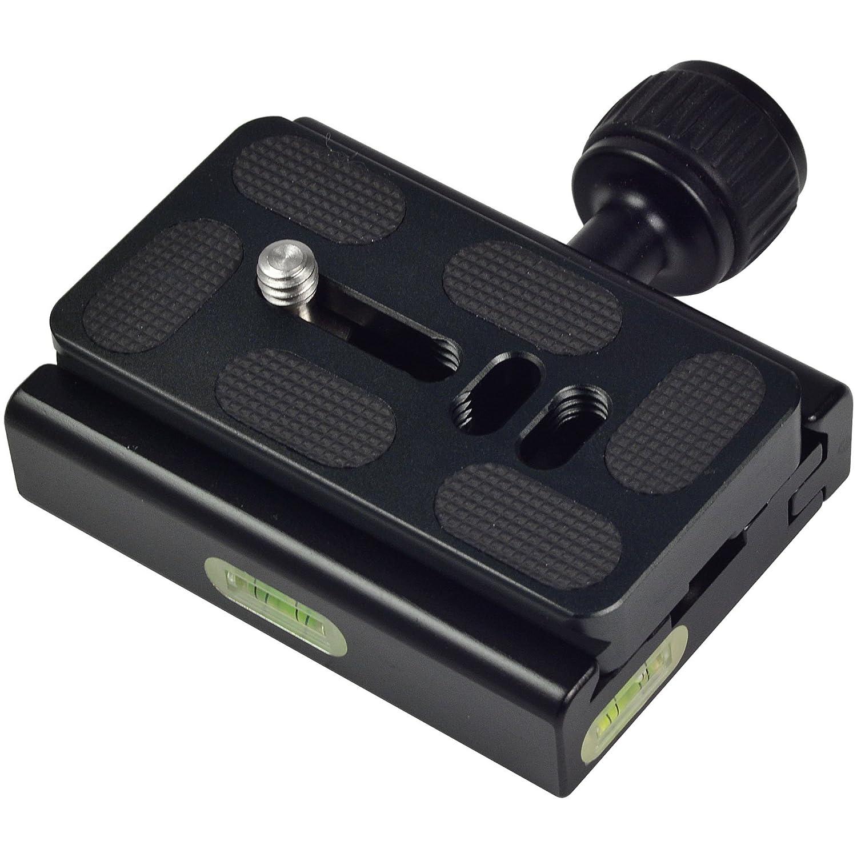 piastra a sgancio rapido per 1//4/vite con alluminio solido compatibile con Akai MENGS/® K30/fotocamera morsetto regolabile come ARCA-SWISS//Kirk//Wimberley//Benro//RRS etc a conchiglia interfaccia standard