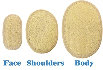 Eco Friendly Bath And Shower Exfoliating Loofah Cleansing Padsu2013 Natural  Alternative To Mesh Pouf U2013