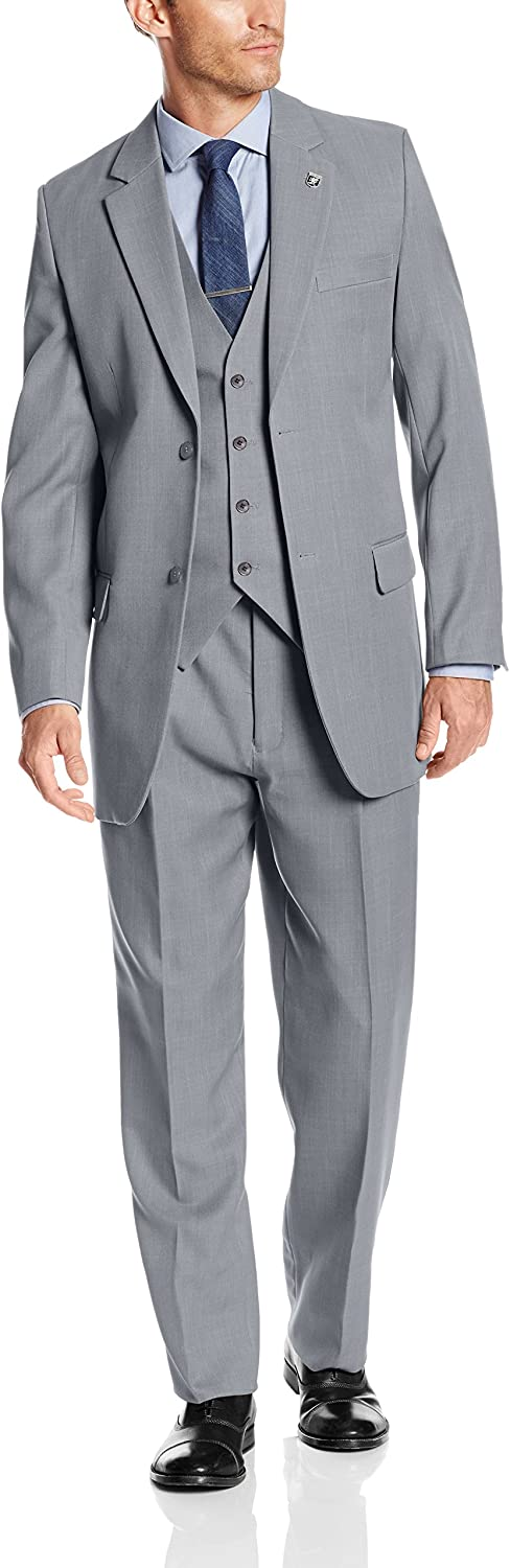1920s Men's Clothing STACY ADAMS Mens Suny Vested 3 Piece Suit $129.99 AT vintagedancer.com