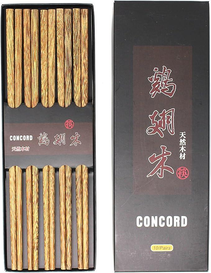 10 pairs chopsticks,Wenge wood,Chinese Wooden Japanese Gift Box Hot Sale