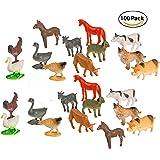 Big Mo's Toys Mini Plastic Educational Farm  Animal Toy, 100-Piece