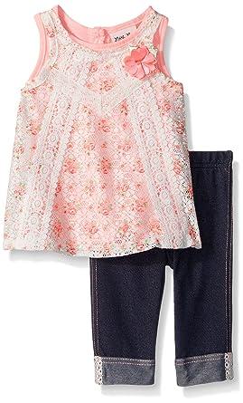d3027db31624 Amazon.com: Little Lass Baby Girls' Little 2 Pc Capri Set Floral ...