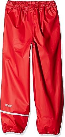CareTec Kids Rain Pants Dungarees Red 128 Red 402