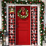 Christmas Porch Banner, Christmas Hanging Porch Sign, Xmas Hanging Decorations for Home Outdoor Decor