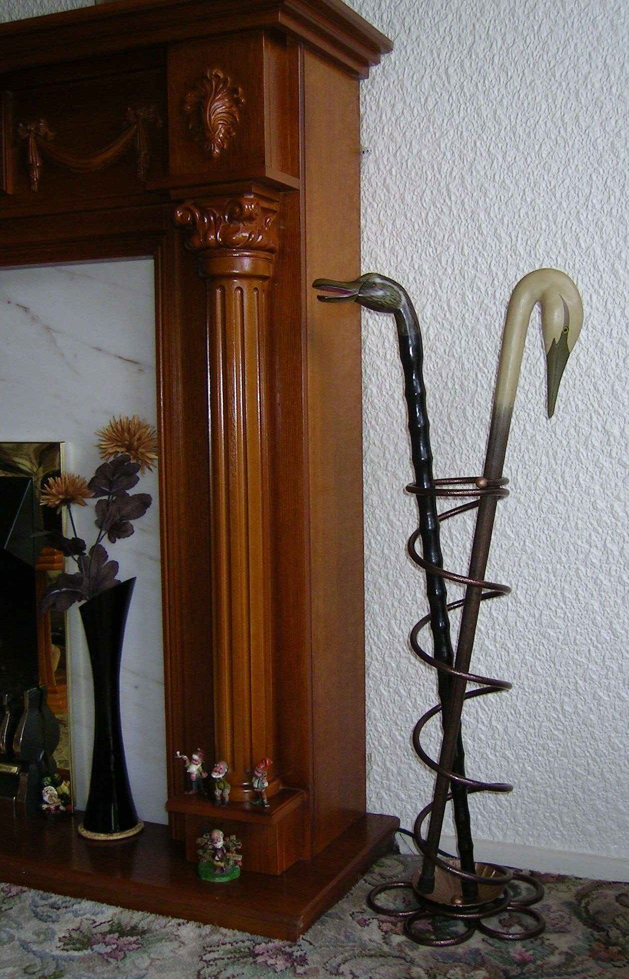Hammered metallic bronze Umbrella Walking stick Stand by Cool Engineered Art by Cool Engineered Art