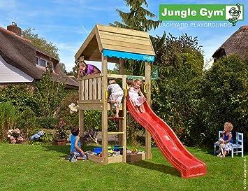 Klettergerüst Jungle : Jungle gym spielturm set laras villa mit balkon rutsche leiter
