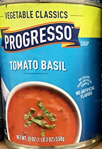 Progresso Vegetable Classics Tomato Basil Soup 19oz Can (Pack of 5)