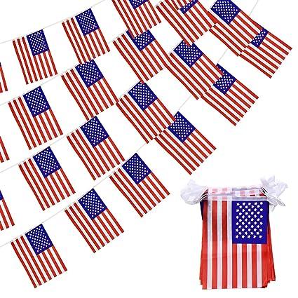 American flag banner. Usa ft pennant string