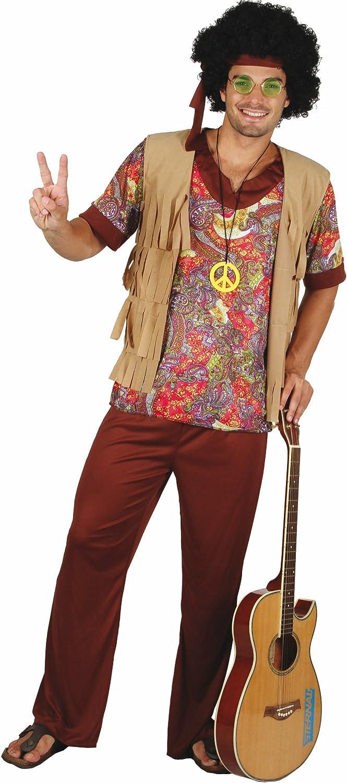 Disfraz de hippie para hombre XL: Amazon.es: Juguetes y juegos
