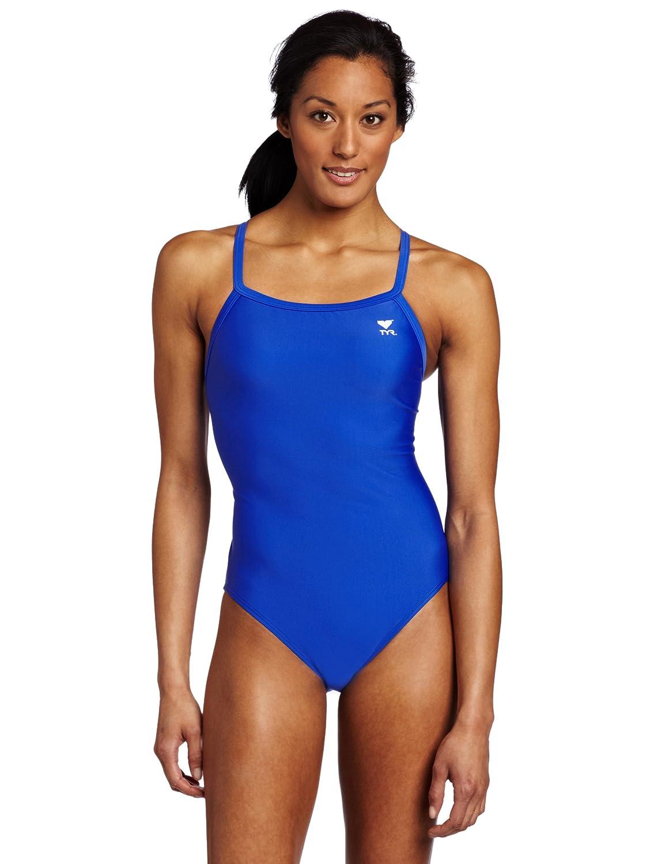 TYR Sport Women's Solid Diamondback Swimsuit 81X3y5Mp9JL