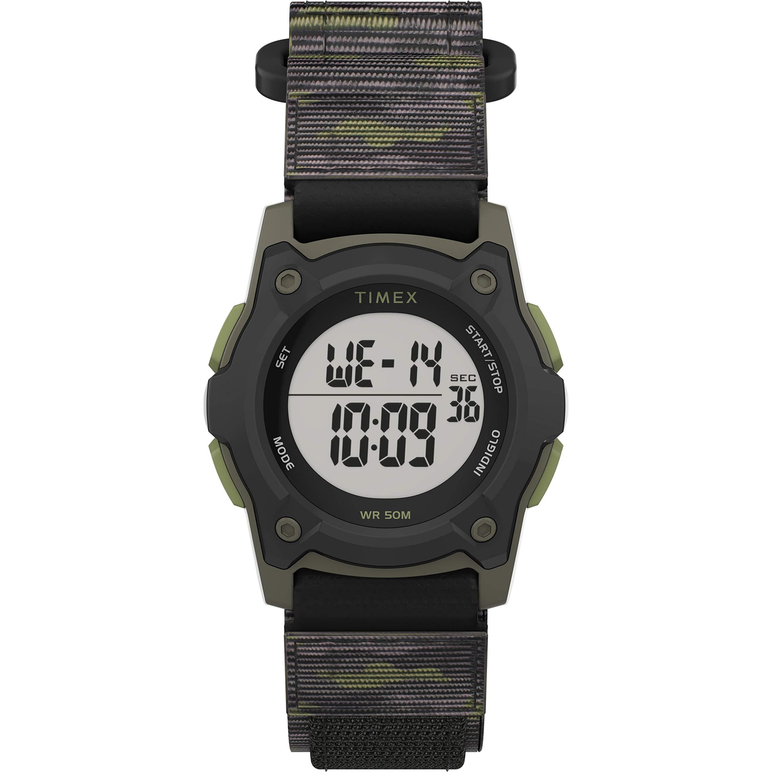 Timex Boys' Time Machines Digital Quartz Nylon Strap, Black, 18 Casual Watch (Model: TW7C775009J) by Timex