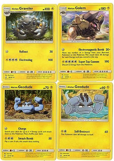 Mint Team Up SM Details about  /Alolan Geodude 35//181 Pokemon Reverse Holo