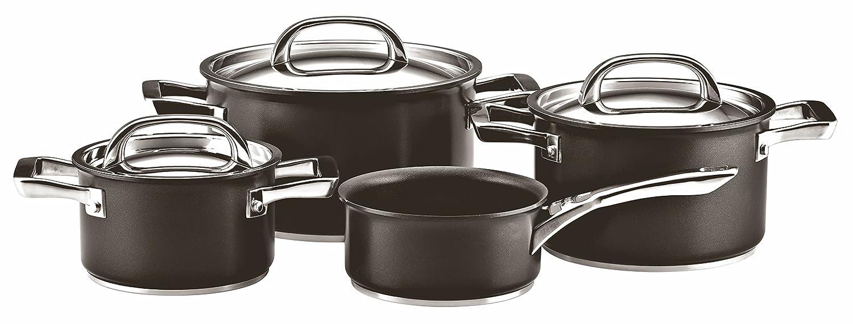 Circulon Infinite Hard Anodised Cookware Set, 4-Piece with Saucepan - Black Meyer Group Ltd. 80050
