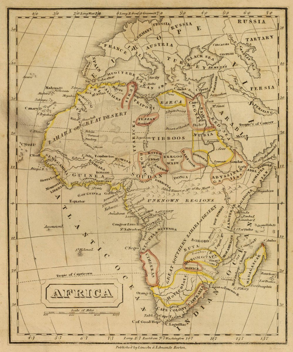 1832 School Atlas | Africa. H. Morse Sc. Published by Lincoln & Edmands, Boston. (1832) | Antique Vintage Map Reprint