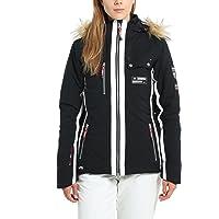 Ultrasport Veste de ski fonctionnelle pour femme - Blouson en softshell pour femme technologie Ultraflow 8000 imperméable - Veste de snowboard femme chaude