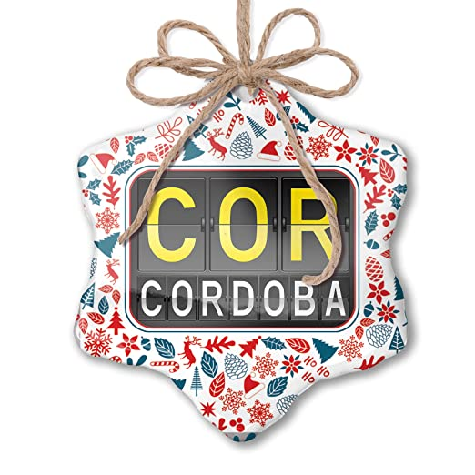 Amazon.com: NEONBLOND Christmas Ornament COR Airport Code ...